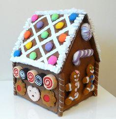 Felt gingerbread house.