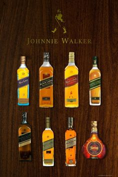 Johnnie Walker Whisky Collection Home Bar Wall Art Decor Canvas Poster Gift Johnnie Walker Whisky, Iphone Wallpaper Photos, Walker Art, Alcohol Drink Recipes, Scotch Whiskey, Wall Bar, Alcoholic Drinks, Cocktails, Glass Collection