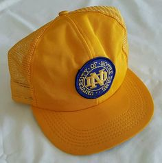 Notre Dame, Notre Dame Hat, Snapback Hat, Trucker Hat Rare!! by ResouledGypsy on Etsy