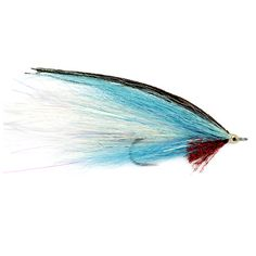 """The classic saltwater deceiver fly profile tied with bucktail instead of hackle. Still the most prolific profile in saltwater flies. blue/white, charteuse/white. <br />Sizes: 2/0 measures 4½"""",  2 measures 3¾""""."""