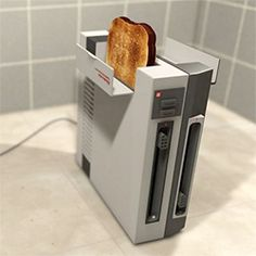 Recycled Nintendo console transformed into a fully operational toaster.