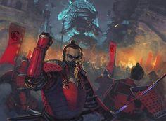 The Wall is breached! by Badaboom - Diego Gisbert - CGHUB Fantasy Warrior, Fantasy Art, Fantasy Samurai, Fantasy Character Design, Character Inspiration, Character Art, Illustrations, Illustration Art, Mutant Chronicles