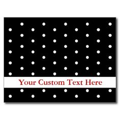 Card in Black and White Dots Post Cards