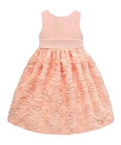 Take a look at the Peach Rosette Dress - Toddler & Girls' Plus on #zulily today!