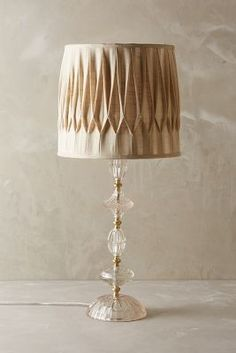 Anthropologie Carlotta Table Lamp #anthropologie #lamp #crystal #ivory #beige #home #decor