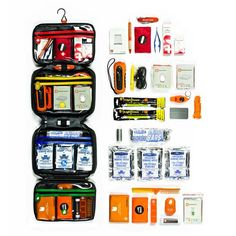 Large Emergency Survival Kit - I wouldn't buy this, but it has an excellent list of what to have in your own Emergency Supply Kit.