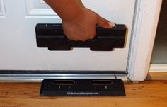 Door Brace | It may look small, but this thing can withstand some serious force. #survivallife www.survivallife.com