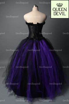 Gothic Corset Prom Dresses | Black Purple Gothic Corset Ball Gown Prom Dress - Dresses ...