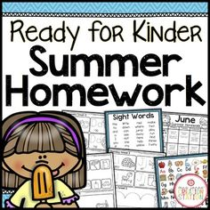 Kindergarten Readiness Summer Homework {Editable}This product includes resources for student leaving pre-k and entering kindergarten in the fall. Each Homework Packet has an Instruction/Calendar Page, corresponding work pages and Reading Log. The activities are aligned with Kindergarten TEKS and CCSS.