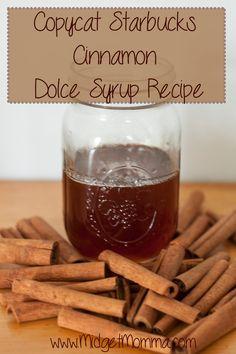 Starbucks Cinnamon Dolce Syrup Recipe, Cinnamon Syrup, Cinnamon Coffee, Homemade Starbucks Recipes, Cinnamon Sticks, Ricotta, Homemade Syrup, Homemade Spices, Latte Recipe