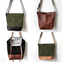 Recycled leather bags and totes by TheCobShop
