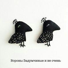 Брошь ворона