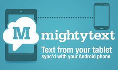 <b>Text from your Tablet, using your current Android phone number</b><p> <br><p>★ SMS from your Tablet, using your CURRENT ANDROID PHONE NUMBER<p>★ Instant Notifications on your tablet when SMS hits phone.<p>★ Set up in 30 seconds<p>★ 100% Free (no additional charge from what your Carrier charges - text free)<p>★ See who's calling your phone -- on your tablet<p>★ See your phone's battery level - on your tablet.<p>★ Send Picture Messages (MMS Messaging) from tablet. Backup MMS.<p>★ Messages…