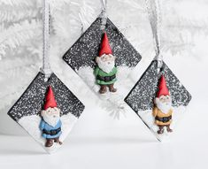 Garden Gnome Ornaments on a Snowy Hill. Christmas от CreaShines