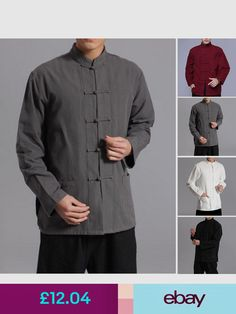 2d9af80d9 Casual Shirts & Tops Clothes, Shoes & Accessories Kung Fu, Chinese Shirt,  Ebay