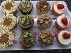Banoffee, Aero Mint, Snickers and Strawberry Cheesecake Cupcakes - by Piece of Cake
