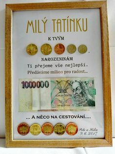 Toto som videla na u kamarátky a úplne ma to dostalo: Geniálne nápady na originálne darčeky pre oslávnecov! Homemade Gifts, Diy Gifts, Diy Presents, Little Gifts, Funny Gifts, Wedding Gifts, Diy And Crafts, Birthday Gifts, Projects To Try