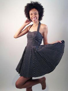 Black and White Tiny Dots Dress   Smak Parlour
