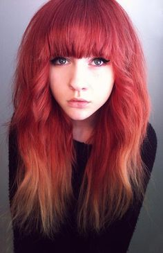 Thinking of maybe getting bangs like this.... ^^