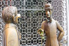Die Bronzefiguren von Tünnes und Schäl in Köln