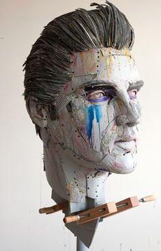 Scott Fife cardboard sculptures