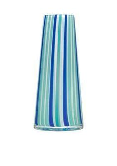 Kosta Boda Cabana Vase- Blue. Cabana series features strict shapes and rich colors. Colored glass rods of glass are melted together, shaped and blown