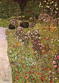 Gustav Klimt (Austrian Symbolist painter, 1862-1918). Orchard with Roses 1912