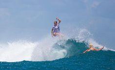 Tessa Thyssen surfing Huntington Beach