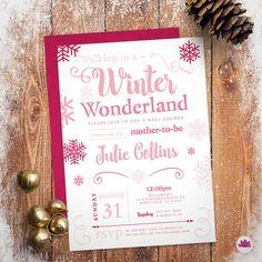 Winter Wonderland Baby Shower Invitation by EventswithGrace