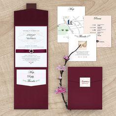 burgundy wedding invitations with maps - Google Search www.aliexpress.com