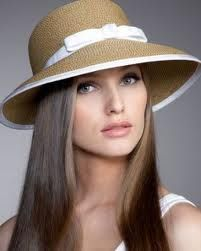 Sombrero paja lazo blanco