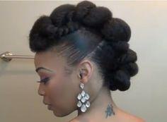 Elegant formal updo for natural hair