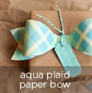 free printable and template: aqua plaid paper bowties  {other colors and patterns available, or use the template on your own paper}