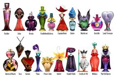 Disney-Villains-Perfume-Bottles I wish these existed so I could start a new funky collection!!! ^_^
