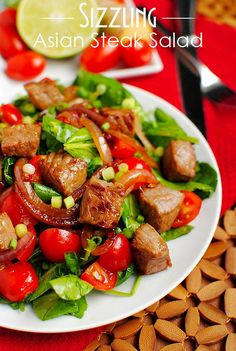 Asian Steak Salad with Bok Choy..don't be confused by the word Salad...this is a nice warm meal!!
