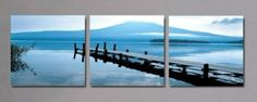 2014 Decoration Wall Painting Modern Living Room Oil Painting 3 Piece Group Of Canvas Art Landscape Paintings Bridge Seascape $77.88 - 109.00