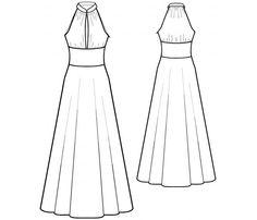 Fashion Design Drawings, Fashion Sketches, Dress Sewing Patterns, Clothing Patterns, Fashion Illustration Poses, Fashion Infographic, Fashion Drawing Dresses, Dress Sketches, Sewing Blogs