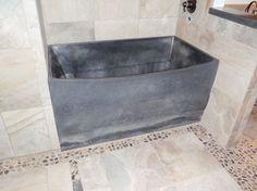 Pre-Cast Concrete Bathtub contemporary bathtubs Concrete Bathtub, Contemporary Bathtubs, Bath Mat, Sink, It Cast, Bathroom Ideas, Tiny House, Home Decor, Image