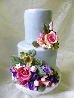 Sugar Flower Mini Wedding Cake