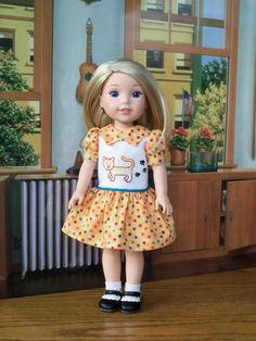 Embroidered Tiger Kitty Dress and Shoes for by Farmcookies on Etsy
