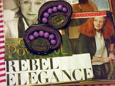 Soutache  Purple Navy and Olive Green with Purple by tyramade