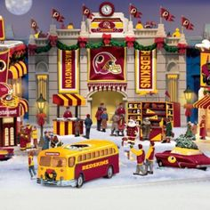 Washington Redskins Christmas Illuminated Village Collection
