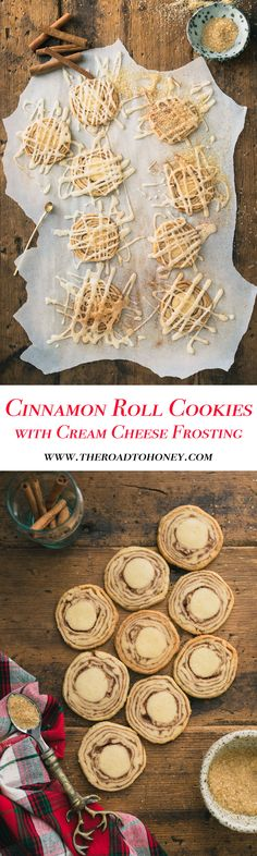 Cinnamon Roll Cookies with Cream Cheese Frosting
