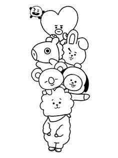 Imagen relacionada – Keep up with the times. Art Drawings For Kids, Kpop Drawings, Pencil Art Drawings, Kawaii Drawings, Art Sketches, Cute Doodle Art, Doodle Art Designs, Doodle Art Drawing, Kawaii Doodles