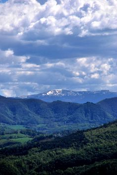 Hills of the Oltrepo, looking south towards the Apennines and Ligurian Alps.