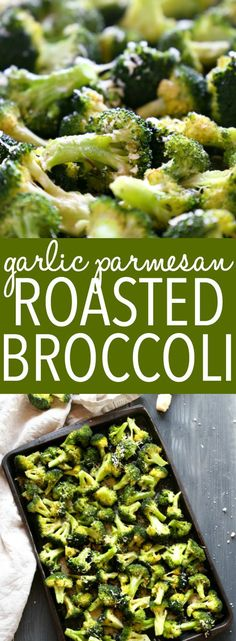 This Garlic Parmesan Roasted Broccoli is a quick and easy side dish that's healthy and delicious, and made with only 4 simple ingredients! It's a family favourite recipe that's the perfect holiday side dish, but it's delicious any time of the year! Recipe from thebusybaker.ca! #sidedish #roastedbroccoli #garlicparmesanbroccoli #easysidedishrecipe via @busybakerblog