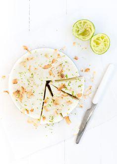 kokos-yoghurt-taart met limoen
