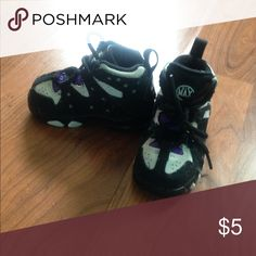 Toddler Nike Air max Black white and purple Nike air max. Size 5c Nike Shoes Sneakers