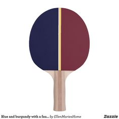Shop Blue and burgundy with a faux gold stripe ping pong paddle created by EllenMariesHome. Ping Pong Paddles, Gold Stripes, Indoor Activities, Your Design, Two By Two, Burgundy, Prints, Blue, Color