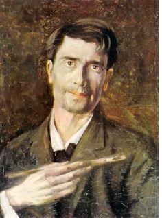 Ștefan Luchian, (Romanian painter) (self-portrait), Lucian Freud Portraits, Romania People, Self Portait, Selfies, Art Database, House Painting, Painting Art, Artist At Work, In This World